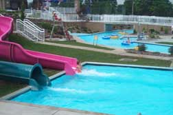 photo of plungepool at end of slides